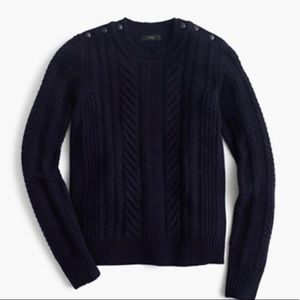 J. Crew Navy Perfect Cable Sweater
